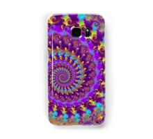 Crazy Psychedelic Fractal in Purple Samsung Galaxy Case/Skin