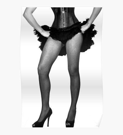 Burlesque legs Poster
