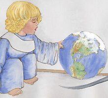 Careful, Little Guy! by redqueenself