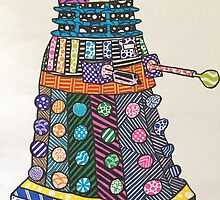 Dalek zentangle by ljoseph