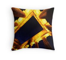 Penshaw (Dusk Abstract) Throw Pillow