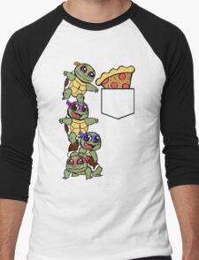 Pocket Pizza Men's Baseball ¾ T-Shirt
