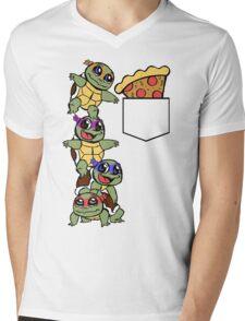 Pocket Pizza Mens V-Neck T-Shirt