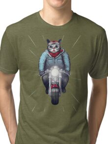 Cafe Racer Cat Speedo Tri-blend T-Shirt