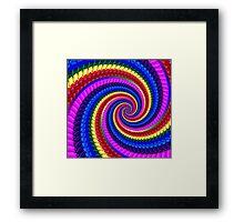 Psychedelic Fractal Spiral Framed Print