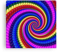 Psychedelic Fractal Spiral Canvas Print