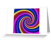 Psychedelic Fractal Spiral Greeting Card