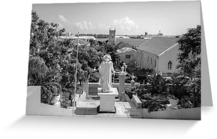 Christopher Columbus watching over Downtown Nassau - The Bahamas by Jeremy Lavender Photography
