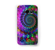 Psychedelic Rainbow Crazy Fractal Pattern Samsung Galaxy Case/Skin