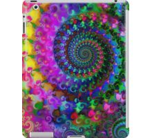 Psychedelic Rainbow Crazy Fractal Pattern iPad Case/Skin