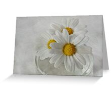 Daisies in a glass jar Greeting Card