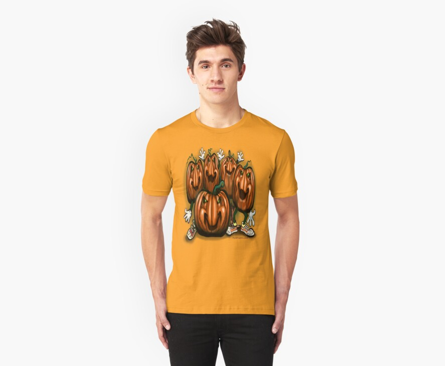 Pumpkin Party Tee by Kevin Middleton