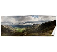 View from Wrynose Pass Poster