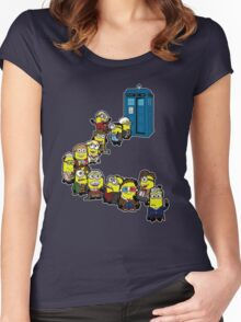 Doc Minion Line Up Women's Fitted Scoop T-Shirt