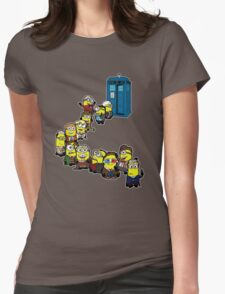 Doc Minion Line Up Womens Fitted T-Shirt
