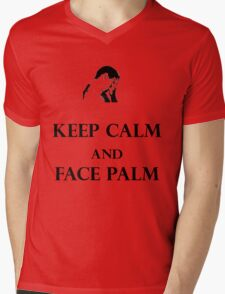 Keep calm and face palm Mens V-Neck T-Shirt