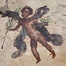 Naked Cupid with Palm Frond Fresco at Pompei by TOM HILL - Designer