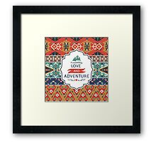 Decorative bright pattern in aztec style Framed Print