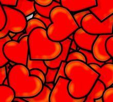 Hearts (Valentine's Day) Sticker
