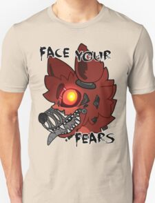 FNAF 4 FOXY FACE YOUR FEARS T-Shirt