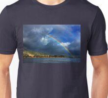 Double rainbow at Kaiafas lake Unisex T-Shirt