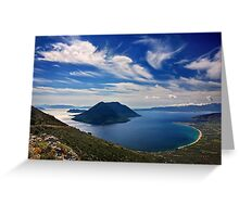 Ionian panorama from Xiromero Greeting Card