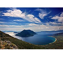 Ionian panorama from Xiromero Photographic Print