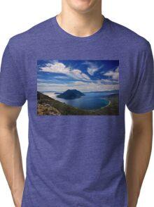 Ionian panorama from Xiromero Tri-blend T-Shirt