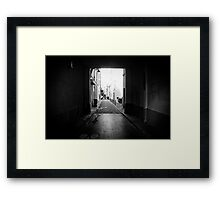 Dark Passage Framed Print