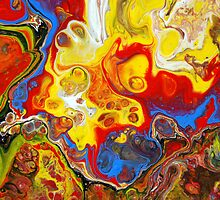 Acrylic Chemical Reaction Abstract Painting by markchadwick