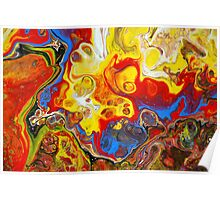 Acrylic Chemical Reaction Abstract Painting Poster