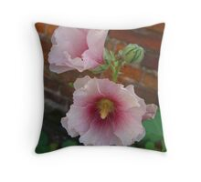 Tissue paper petals Throw Pillow