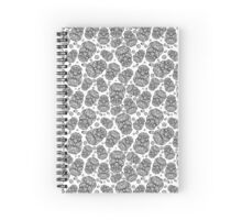 Halloween and day of the dead black scull Spiral Notebook