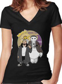 Jaymax an Silent Bob Women's Fitted V-Neck T-Shirt