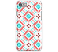 Simple retro pattern with shapes iPhone Case/Skin