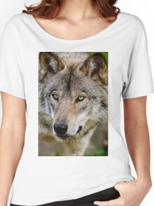 Timberwolf Portrait  Women's Relaxed Fit T-Shirt
