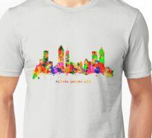 Watercolour art print of the skyline of Atlanta Georgia USA Unisex T-Shirt