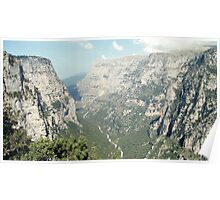The Vikos gorge in Greece Poster