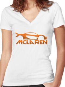Mclaren P1 Women's Fitted V-Neck T-Shirt