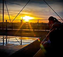 Sunset on the Rooftop of Musee de Pompidou by TimothyMonson