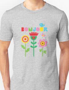Bonjour - on lights T-Shirt