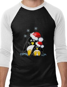 Cute Penguins Christmas Tee Men's Baseball ¾ T-Shirt