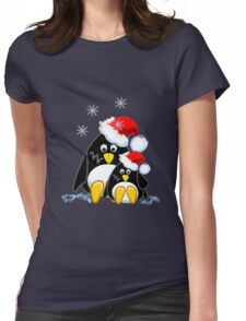 Cute Penguins Christmas Tee Womens Fitted T-Shirt