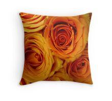 Abundant & perfect roses Throw Pillow