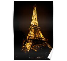 Eiffel Tower by Night 1 Poster