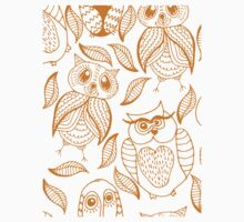 Four different brown owls Kids Tee