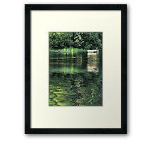 The Diving Dock Framed Print
