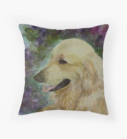 Beautiful Golden Retriever Throw Pillow
