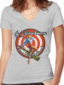 The Creedmoor Girl! Women's Fitted V-Neck T-Shirt