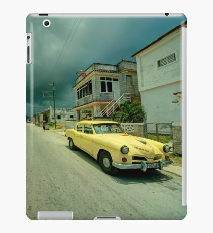 Yellow storm car  iPad Case/Skin